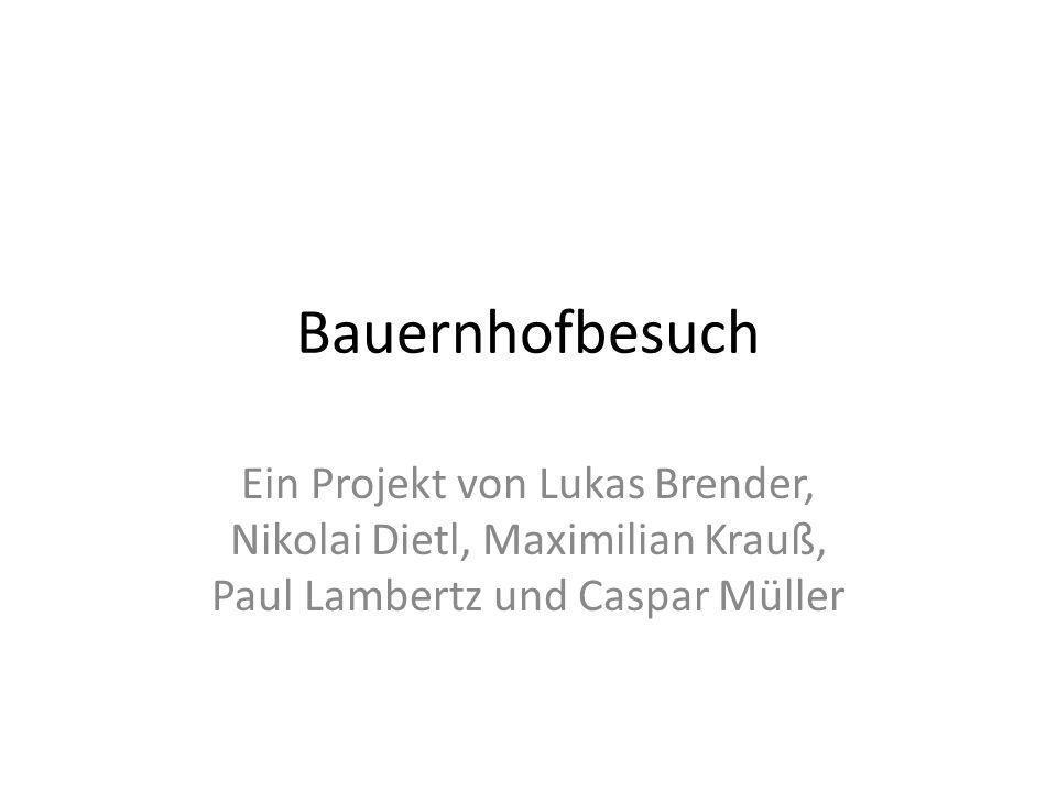 Bauernhofbesuch Ein Projekt von Lukas Brender, Nikolai Dietl, Maximilian Krauß, Paul Lambertz und Caspar Müller