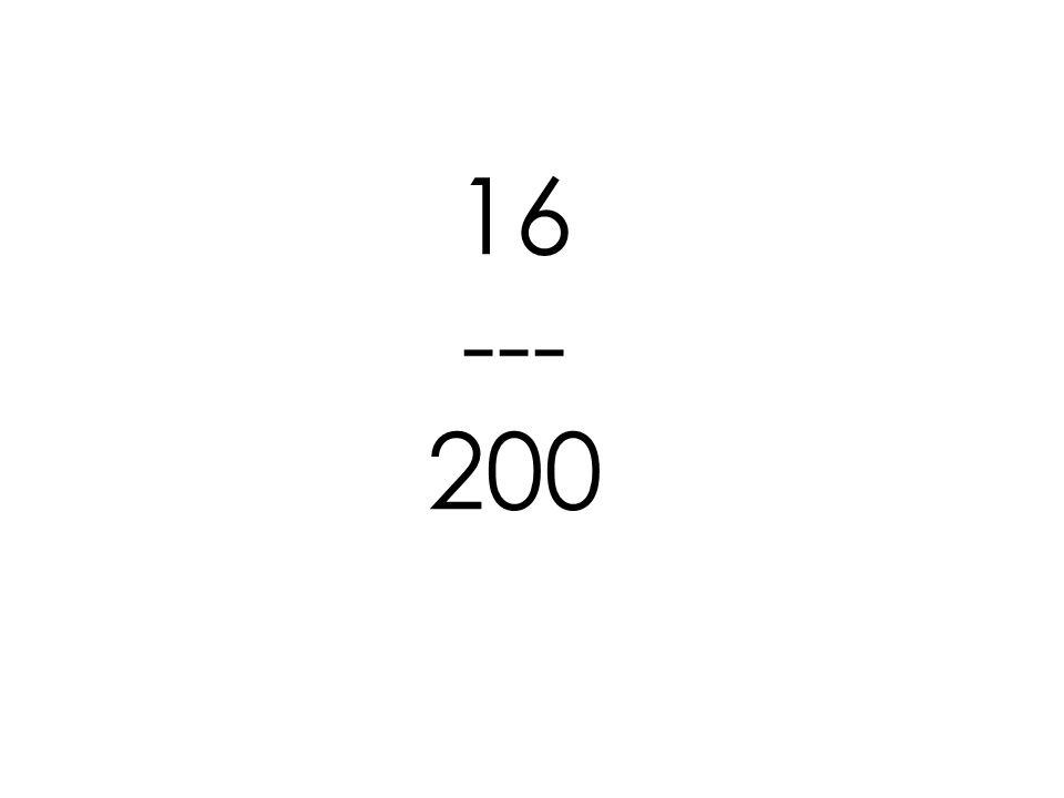 16 --- 200