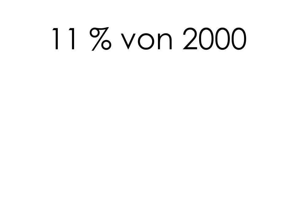 11 % von 2000