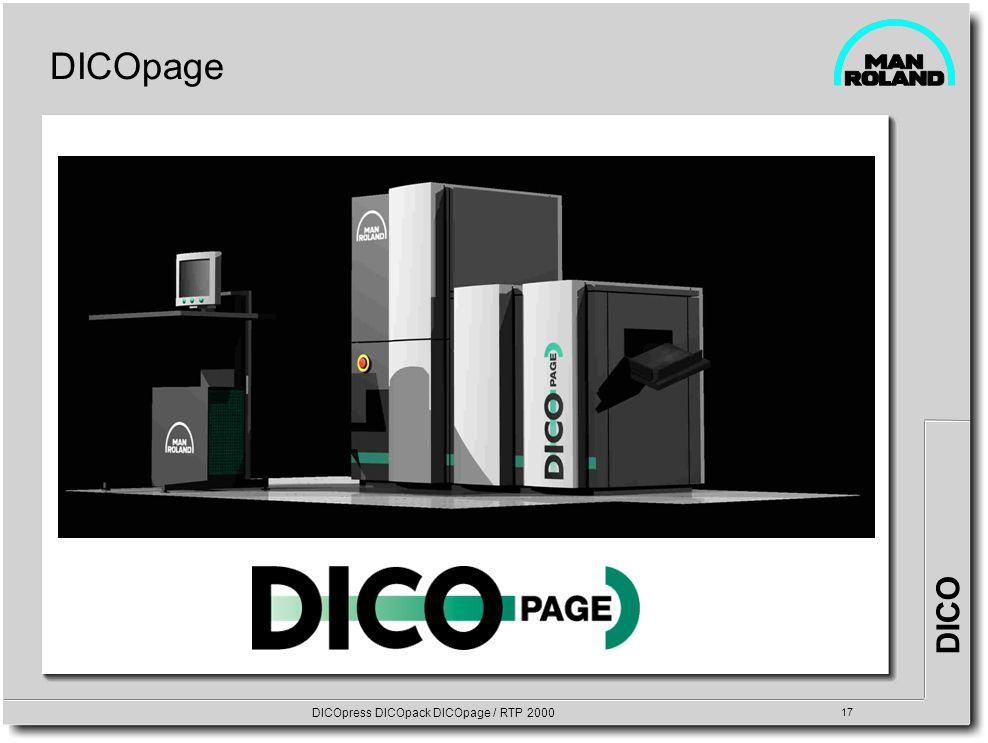 DICO DICOpress DICOpack DICOpage / RTP 2000 17 DICOpage