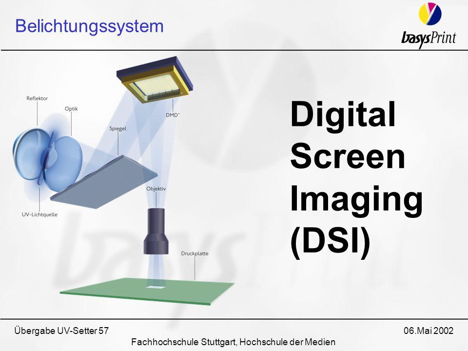 Übergabe UV-Setter 57 06.Mai 2002 Fachhochschule Stuttgart, Hochschule der Medien Digital Screen Imaging (DSI) Belichtungssystem