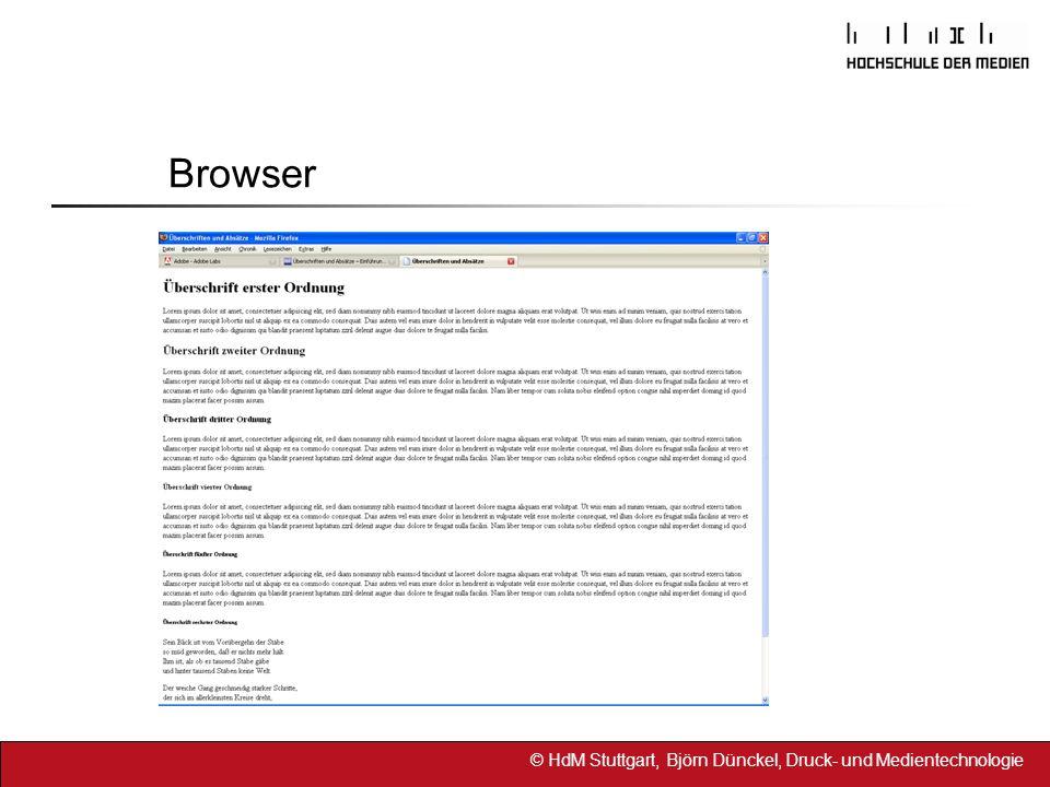 © HdM Stuttgart, Björn Dünckel, Druck- und Medientechnologie Browser
