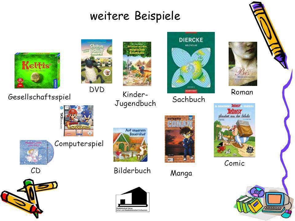 Medien in der Bibliothek In der Stadtteilbibliothek Großauheim findest Du u. a. - Kinder- und Jugendbücher - Bilderbücher - Romane - Comics und Mangas
