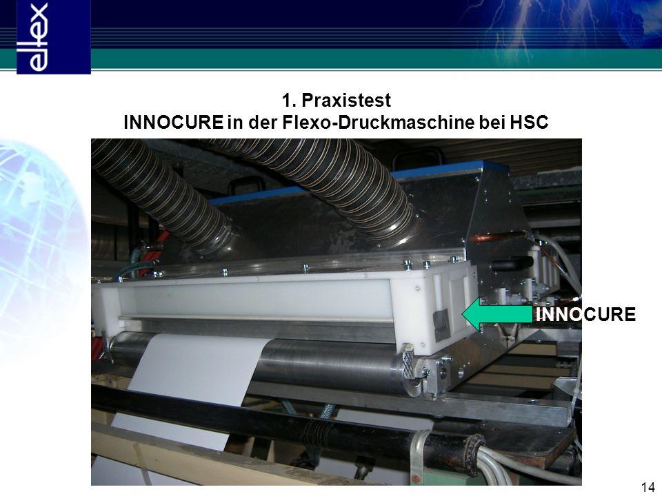 14 1. Praxistest INNOCURE in der Flexo-Druckmaschine bei HSC INNOCURE