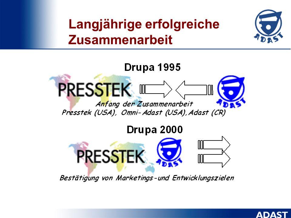 Geschichte der DI-Technologie DI-Technologie der direkten Platten-bebilderung in einer Druckmaschine ist durch die amerikanische Firma Presstek Inc. a