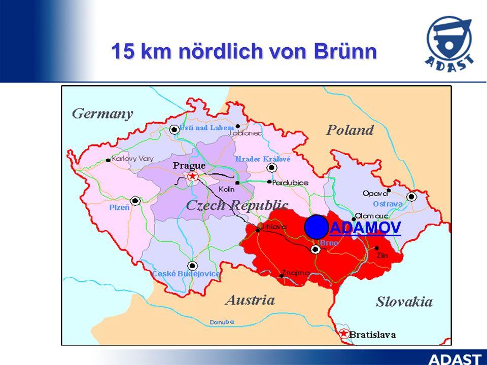 ADAMOV 15 km nördlich von Brünn
