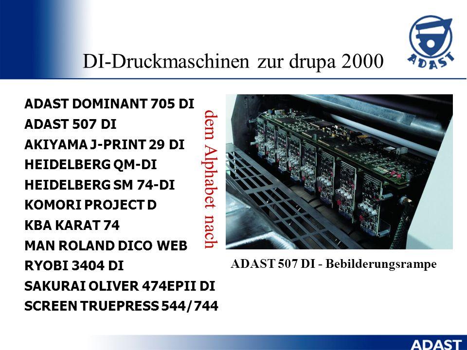 Vorteile der DI-Technologie Digitaler workflow direkt zur Druckmaschine Schnelle Rüstzeiten der Druckmaschine Offsetqualität des Druckerzeugnisses Mat