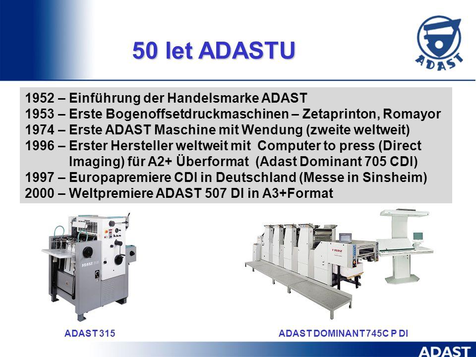 vorbereitet von: Hynek Greben ADAST Deutschland Zdenek Krkoska Produktmanager DI Radek Tejkal Marketing ADAST