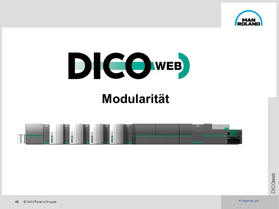 40© MAN Roland Gruppe DICOweb RT September 2001 Modularität