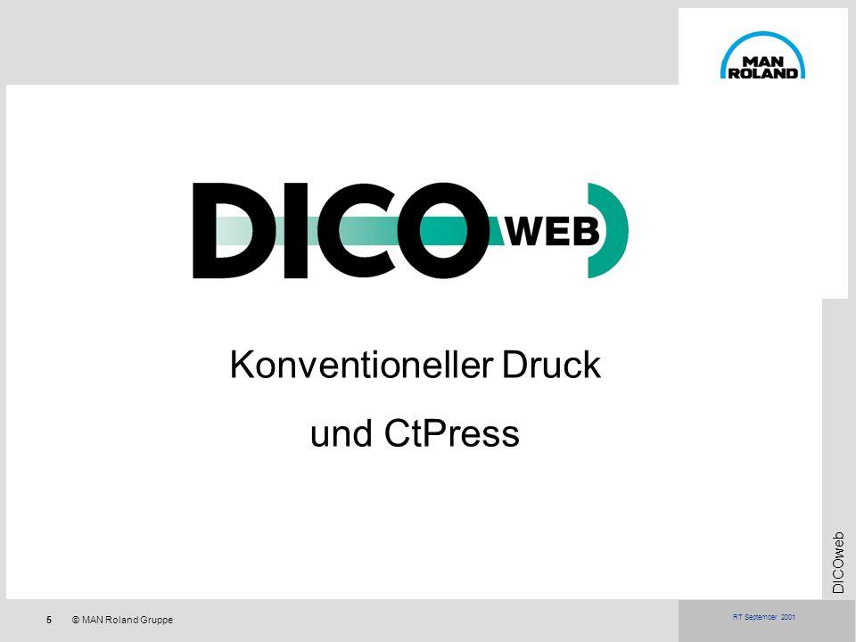 5© MAN Roland Gruppe DICOweb RT September 2001 Konventioneller Druck und CtPress