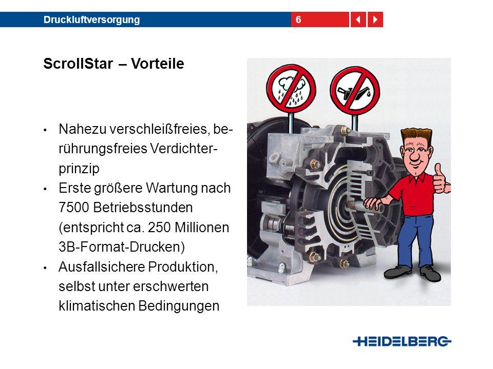 17Auslegerluftversorgung ScrollStar Plus ermöglicht größeres Einstellfenster der Lufteinstellungen Steigerung der Produktion um ca.1000 Drucke/h (netto) bei unterschiedlichen Etiketten- papieren ScrollStar Plus – Feldtest- erfahrung beim Kunden Haferkamp, Oldenburg