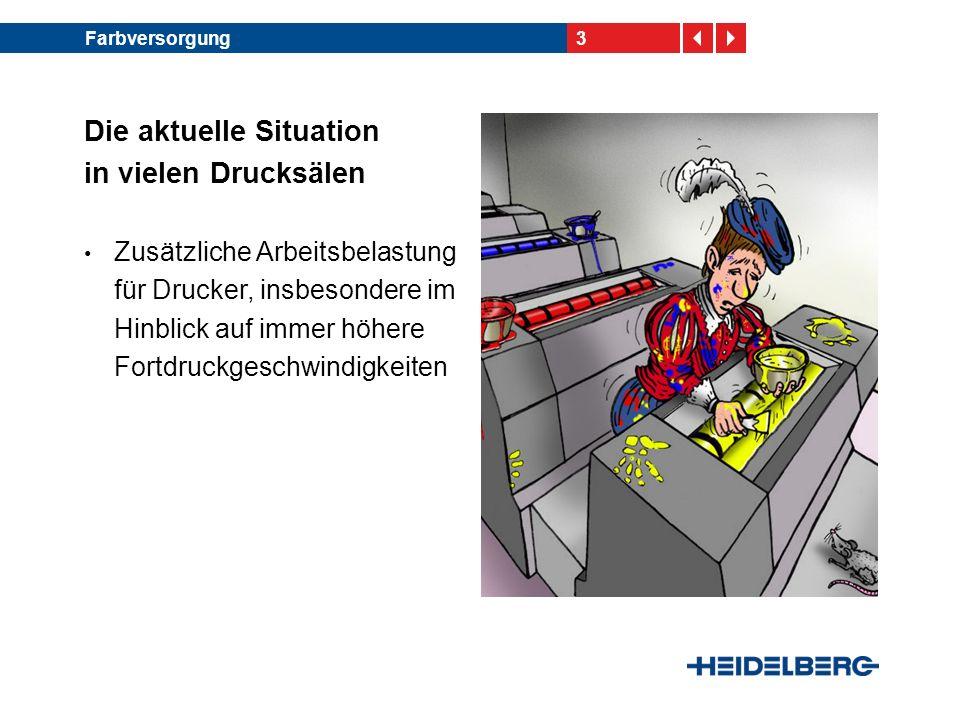 4Farbversorgung InkLine – Das Heidelberg-System zur automatisierten Farbzuführung Eine patentierte Entwicklung von Heidelberg, gefer- tigt bei technotrans Erfolgsstory: ca.