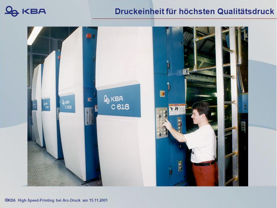 KBA High-Speed-Printing bei Aro-Druck am 15.11.2001 Druckeinheit für höchsten Qualitätsdruck