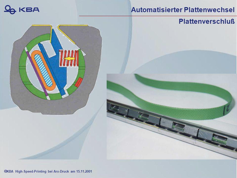 KBA High-Speed-Printing bei Aro-Druck am 15.11.2001 Automatisierter Plattenwechsel Plattenverschluß
