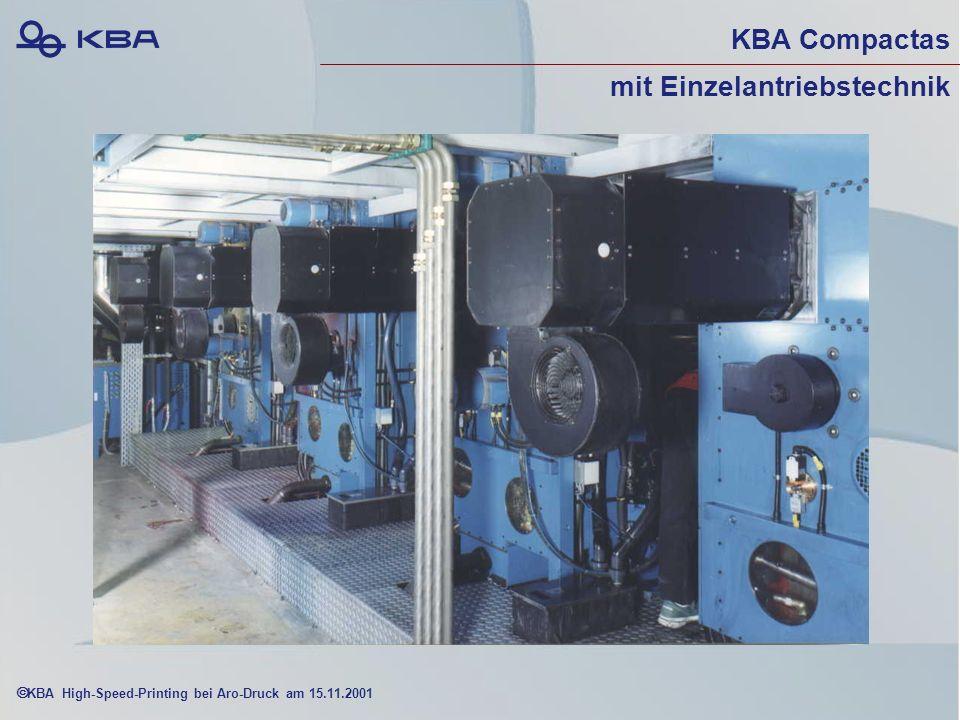 KBA High-Speed-Printing bei Aro-Druck am 15.11.2001 KBA Compactas mit Einzelantriebstechnik