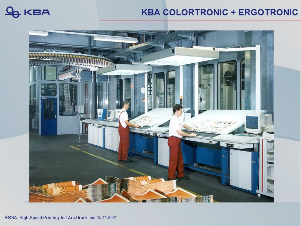KBA High-Speed-Printing bei Aro-Druck am 15.11.2001 KBA COLORTRONIC + ERGOTRONIC