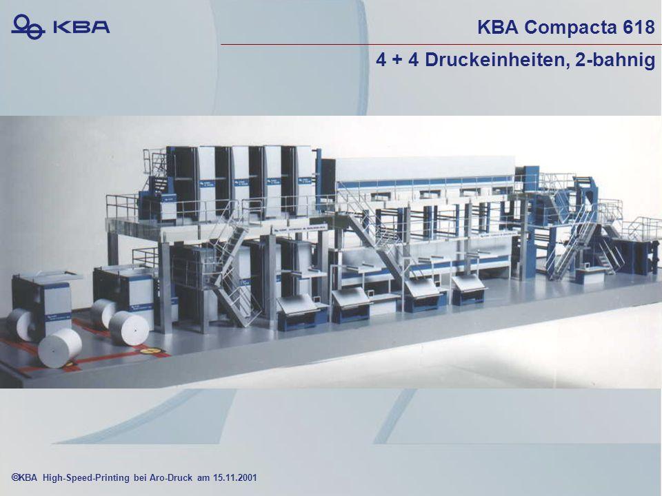 KBA High-Speed-Printing bei Aro-Druck am 15.11.2001 KBA Compacta 618 4 + 4 Druckeinheiten, 2-bahnig