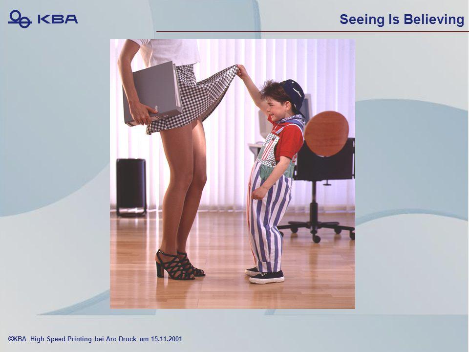 KBA High-Speed-Printing bei Aro-Druck am 15.11.2001 Seeing Is Believing