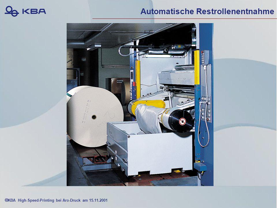 KBA High-Speed-Printing bei Aro-Druck am 15.11.2001 Automatische Restrollenentnahme