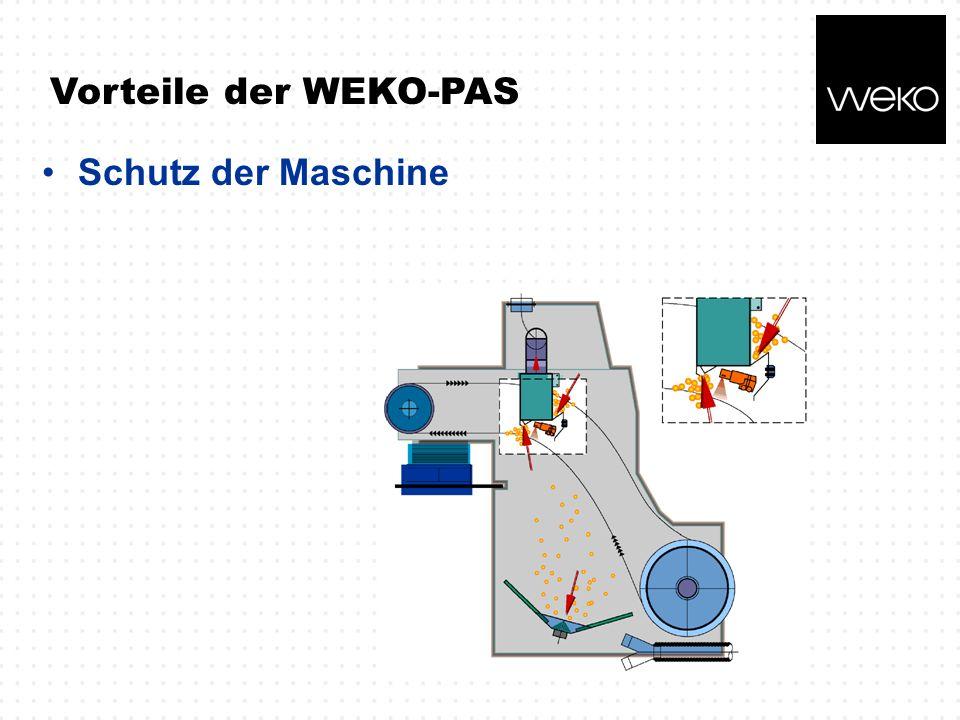 Vorteile der WEKO-PAS Schutz der Maschine