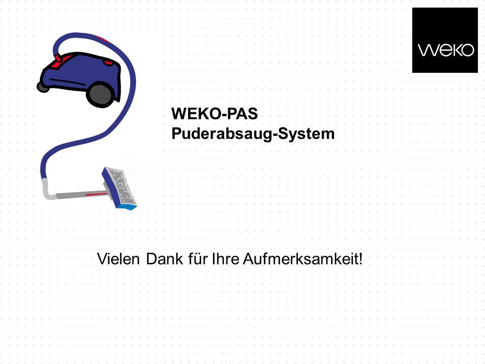 WEKO-PAS Puderabsaug-System Vielen Dank für Ihre Aufmerksamkeit!