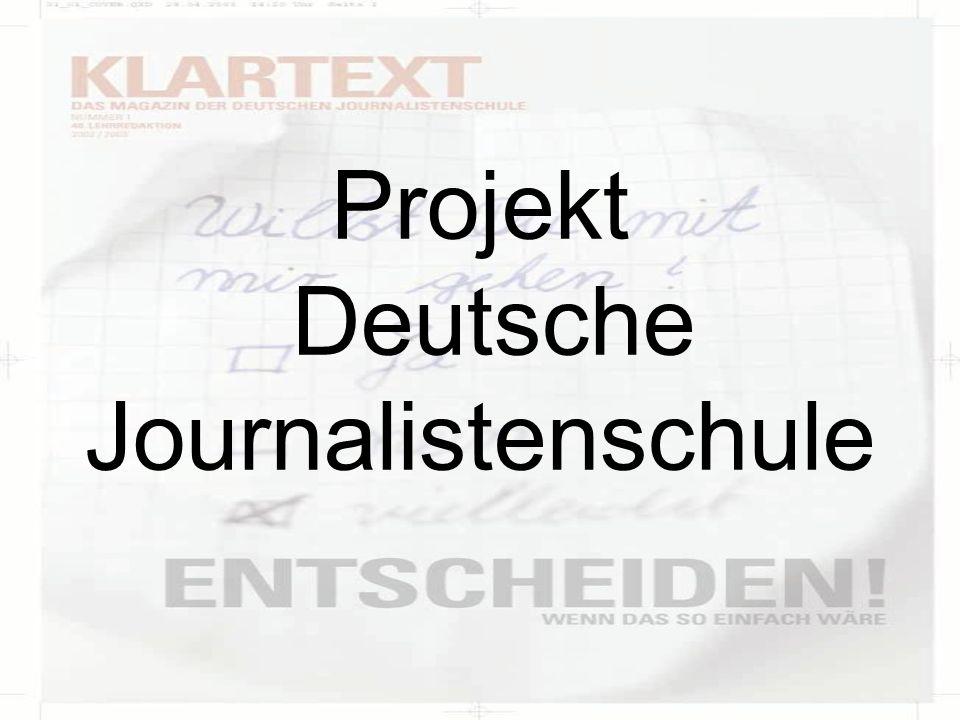 Produktbeschreibung Magazin der Deutschen Journalistenschule 82 Seiten Umfang Klebebindung Auflage: 5.000