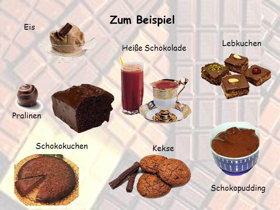 So kennt ihr Schokolade wahrscheinlich am besten. Aber es gibt ja auch noch andere Produkte aus oder mit Schokolade...