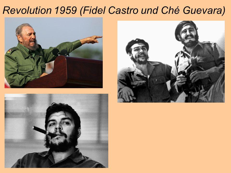 Revolution 1959 (Fidel Castro und Ché Guevara)