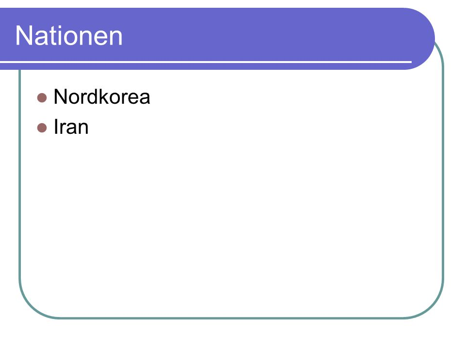 Nationen Nordkorea Iran