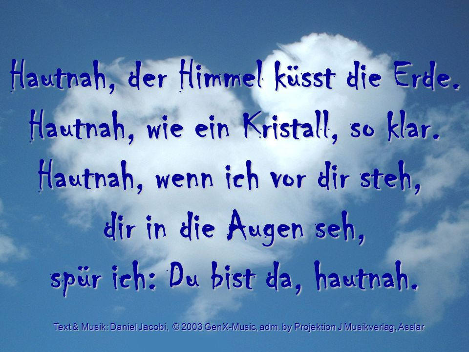 Hautnah - Chorus