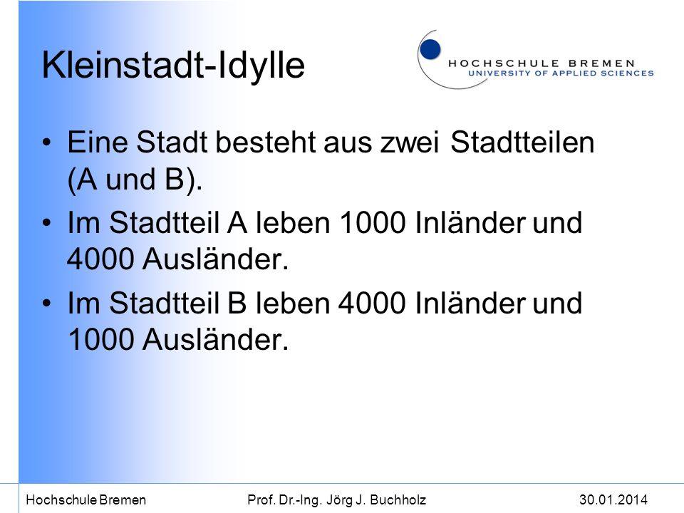 30.01.2014Hochschule BremenProf.Dr.-Ing. Jörg J. Buchholz Alles Verbrecher.
