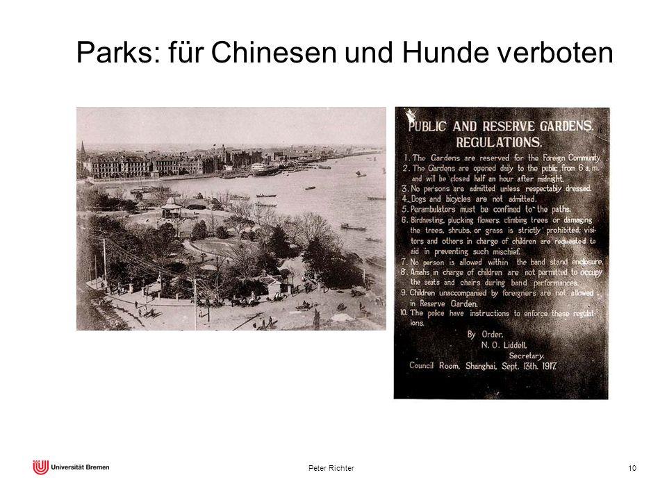 Peter Richter10 Parks: für Chinesen und Hunde verboten