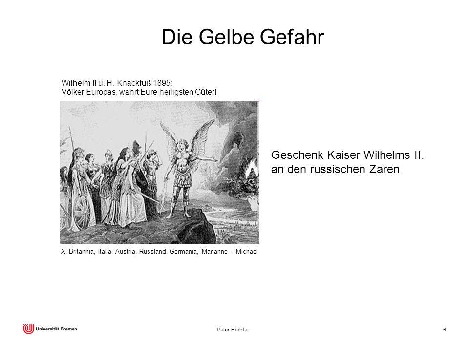 Peter Richter6 X, Britannia, Italia, Austria, Russland, Germania, Marianne – Michael Wilhelm II u. H. Knackfuß 1895: Völker Europas, wahrt Eure heilig