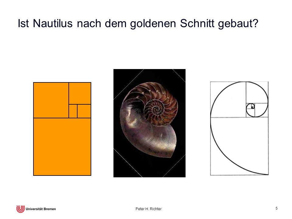 Peter H. Richter 5 Ist Nautilus nach dem goldenen Schnitt gebaut?