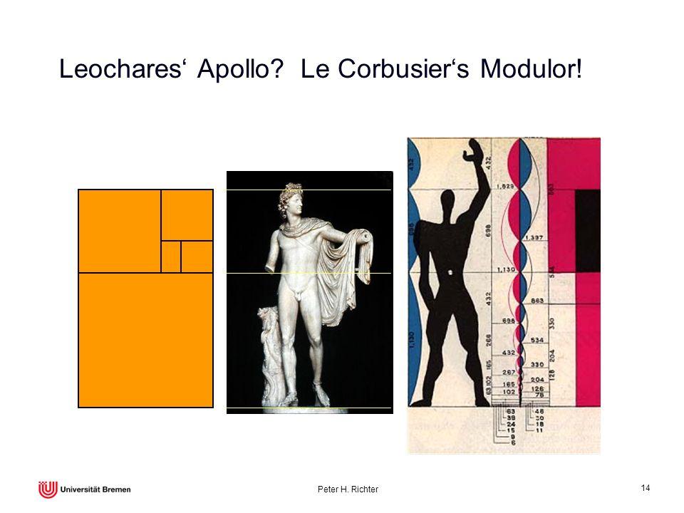 Peter H. Richter 14 Leochares Apollo? Le Corbusiers Modulor!