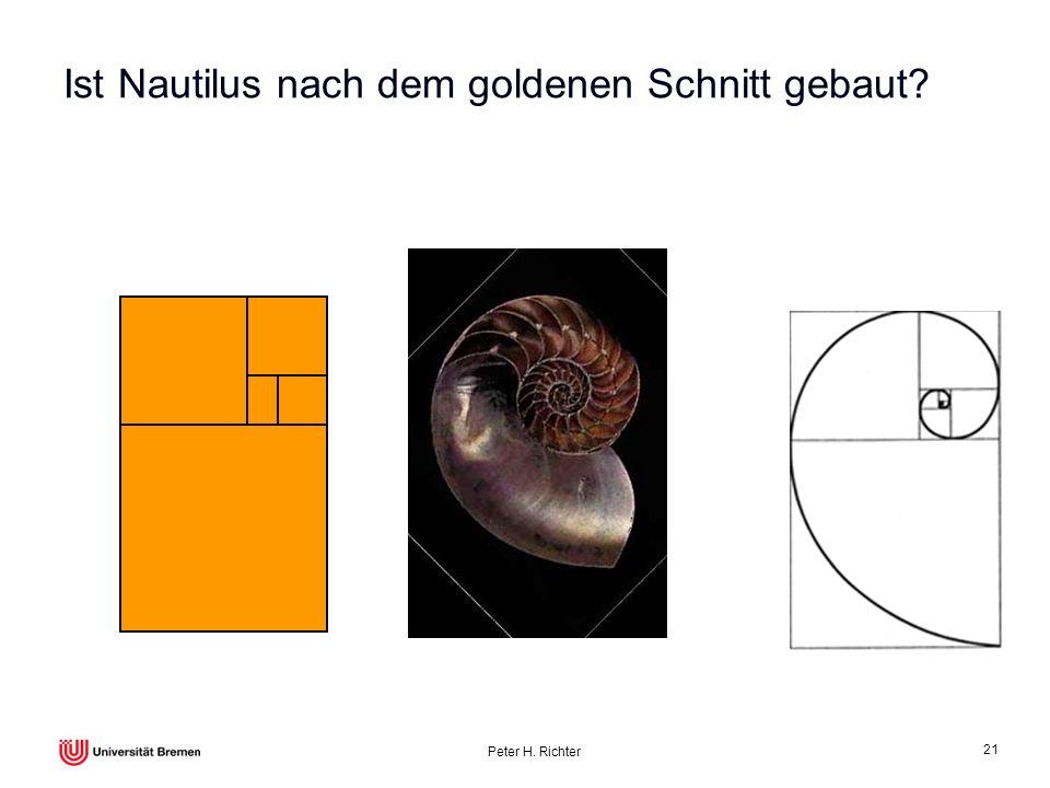 Peter H. Richter 21 Ist Nautilus nach dem goldenen Schnitt gebaut?