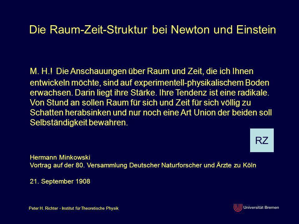 Peter H.Richter - Institut für Theoretische Physik Wie rettet Einstein den Impulssatz.