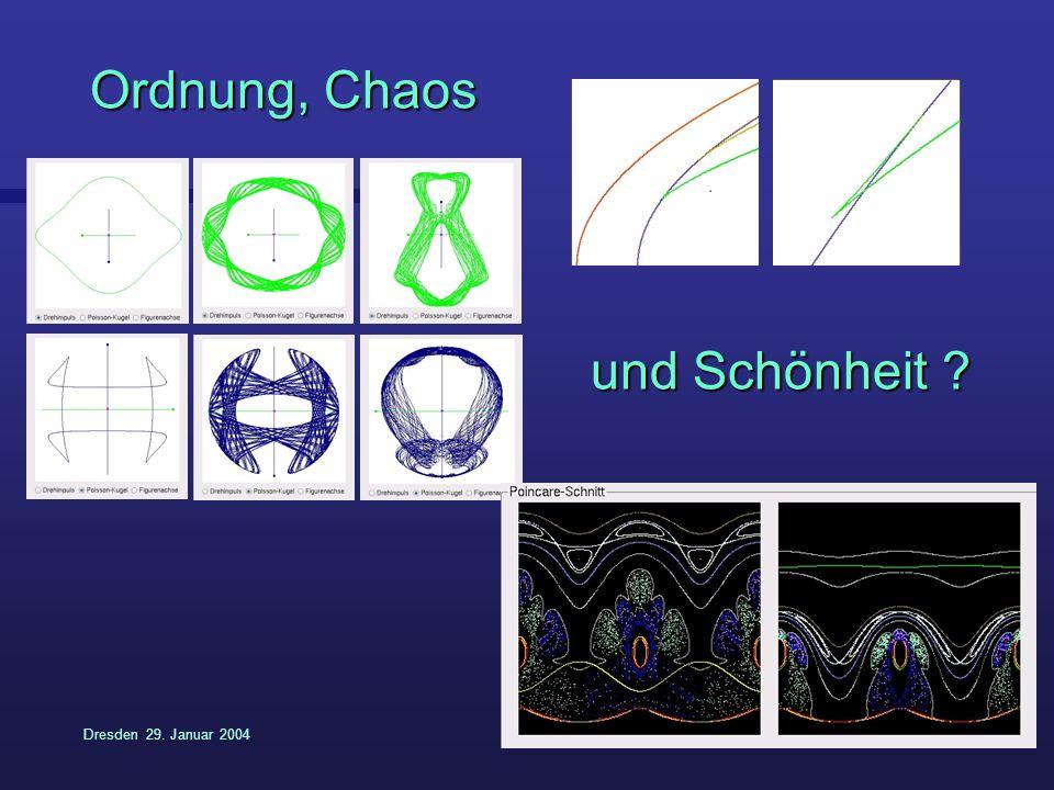 Dresden 29. Januar 20049 Ordnung, Chaos und Schönheit ?