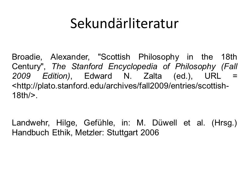 Sekundärliteratur Broadie, Alexander,