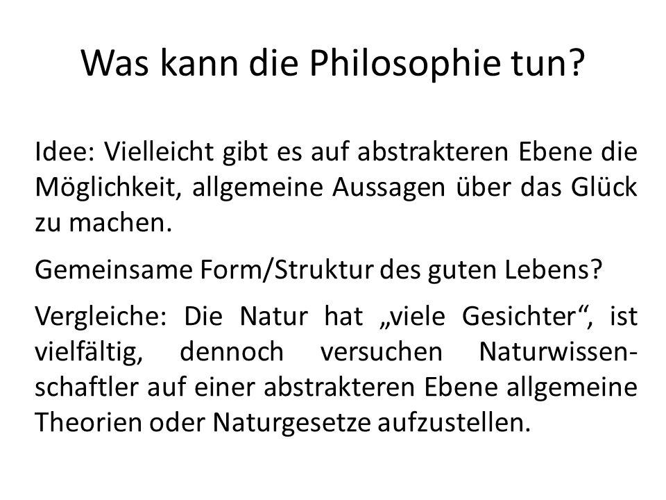 Was kann die Philosophie tun.