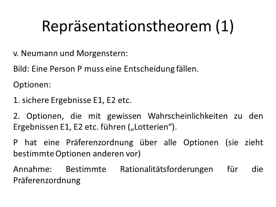 Repräsentationstheorem (1) v.