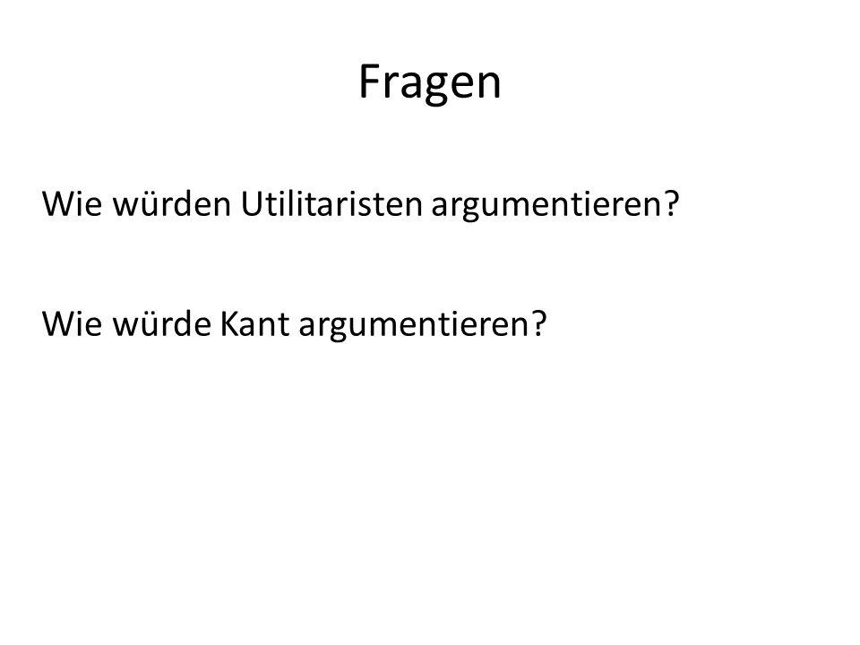 Vergleich Kant – Utilitarismus Im Folgenden benennen wir einige Gemeinsamkeiten und Unterschiede.