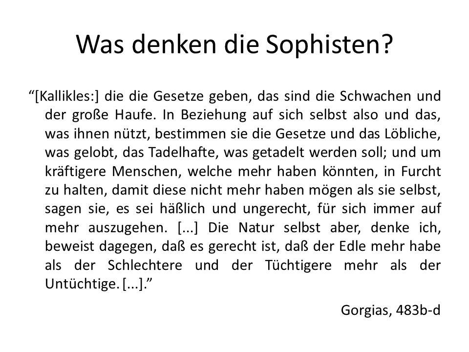 Was denken die Sophisten.