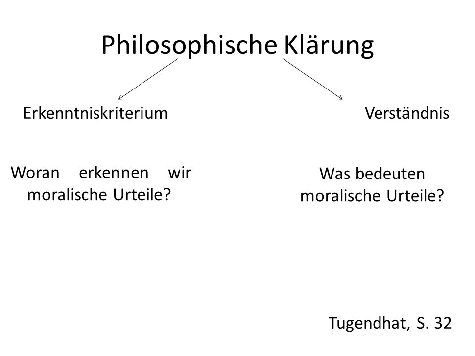 Philosophische Klärung Erkenntniskriterium Verständnis Tugendhat, S.