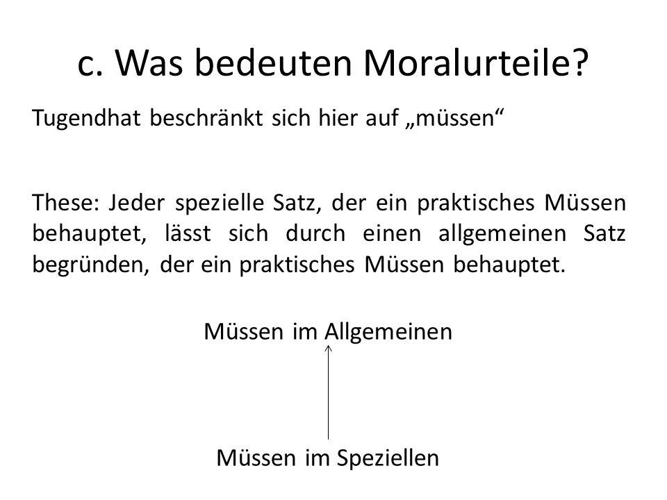 c.Was bedeuten Moralurteile.