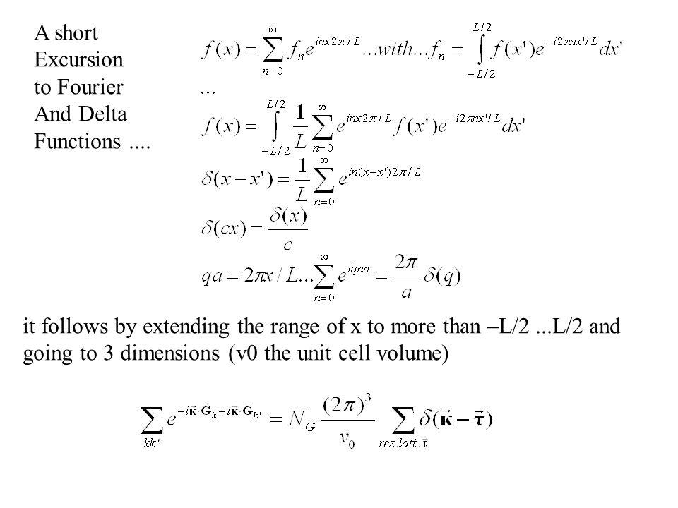 Neutronen – Diffraktion Gitter G mit Basis B: Isotopen-inkoherente-Streuung Spin-inkoherente-Streuung unabhängig von κ: Gitterfaktor Strukturfaktor ein Element(N B =1):