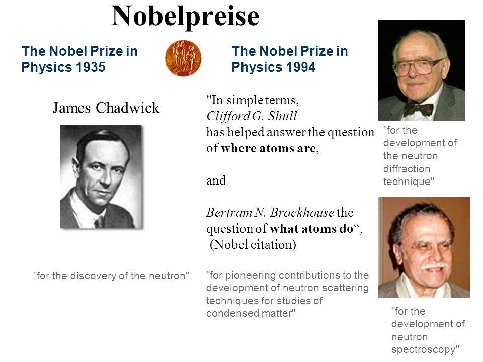 Nobelpreise The Nobel Prize in Physics 1994