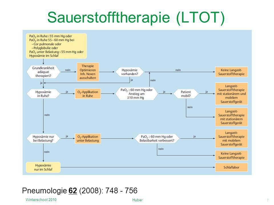 7 Sauerstofftherapie (LTOT) Huber Winterschool 2010 Pneumologie 62 (2008): 748 - 756