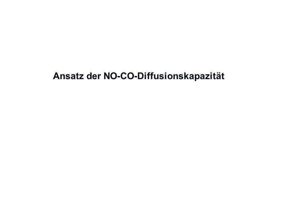 Ansatz der NO-CO-Diffusionskapazität