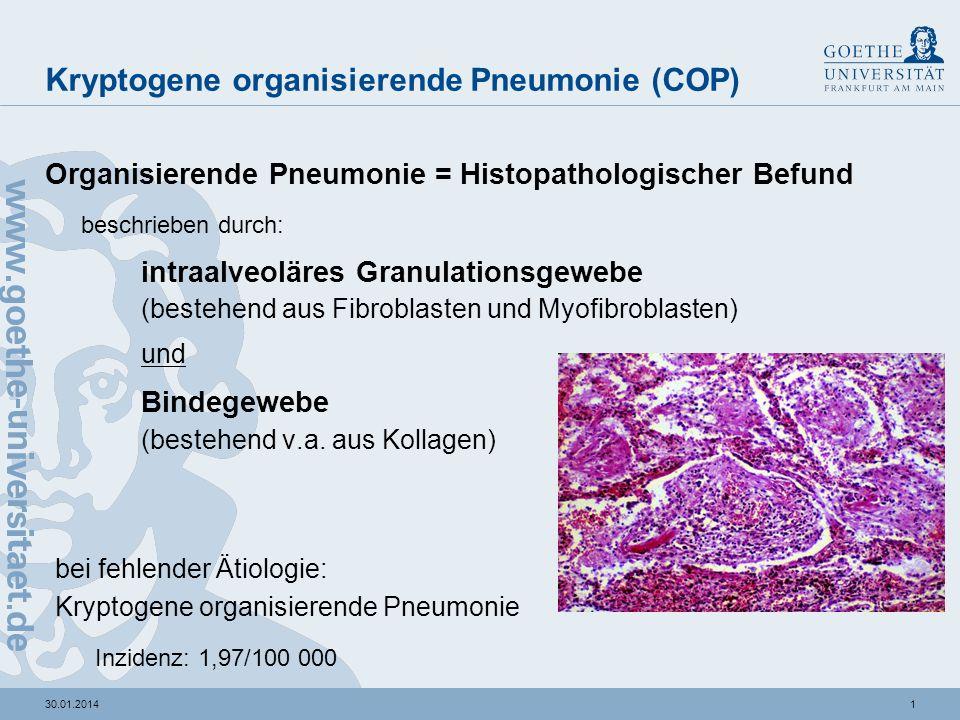 30.01.2014 Kryptogene organisierende Pneumonie COP